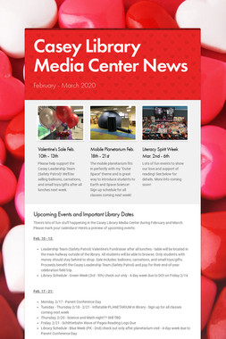 Casey Library Media Center News