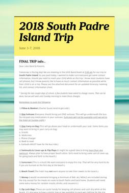 2018 South Padre Island Trip