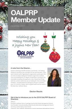 OALPRP Member Update