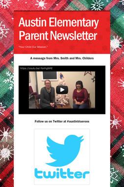 Austin Elementary Parent Newsletter