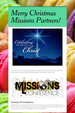 Merry Christmas Missions Partners!
