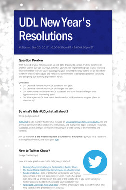 UDL New Year's Resolutions