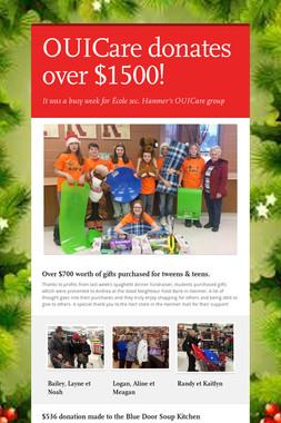 OUICare donates over $1500!