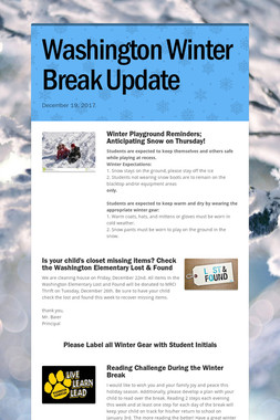 Washington Winter Break Update