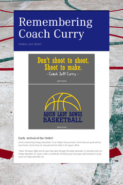 Remembering Coach Curry