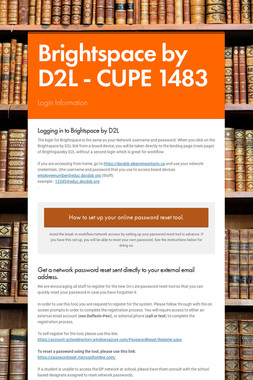 Brightspace by D2L -   CUPE 1483