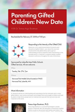 Parenting Gifted Children: New Date