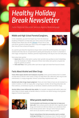 Healthy Holiday Break Newsletter