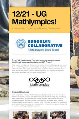12/21 - UG Mathlympics!