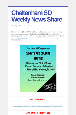 Cheltenham SD Weekly News Share
