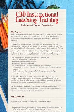 CBD Instructional Coaching Training