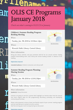 OLIS CE Programs January 2018