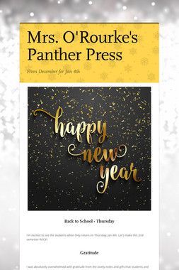 Mrs. O'Rourke's Panther Press