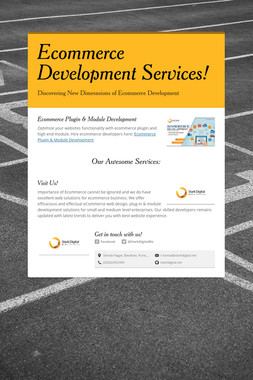 Ecommerce Development Services!