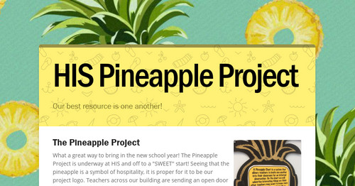 His Pineapple Project Smore Newsletters For Education