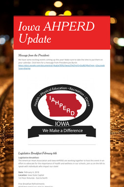 Iowa AHPERD Update
