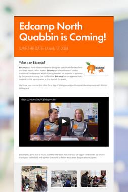 Edcamp North Quabbin is Coming!