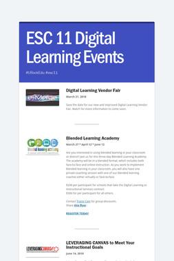 ESC 11 Digital Learning Events