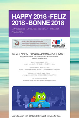 HAPPY 2018 -FELIZ 2018 -BONNE 2018