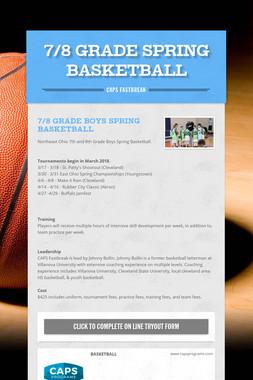 7/8 Grade Spring Basketball