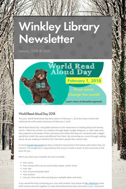 Winkley Library Newsletter