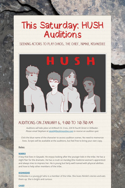 This Saturday: HUSH Auditions