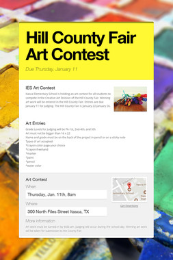 Hill County Fair Art Contest