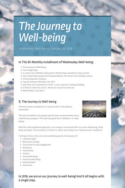 The Journey to Well-being