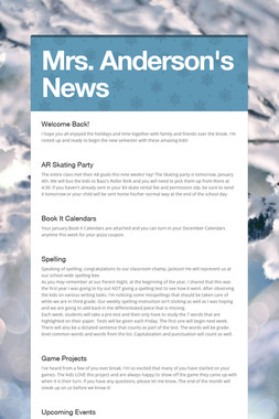 Mrs. Anderson's News