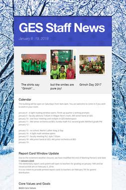 GES Staff News