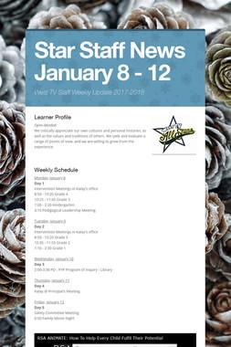 Star Staff News   January 8 - 12