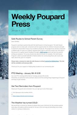 Weekly Poupard Press