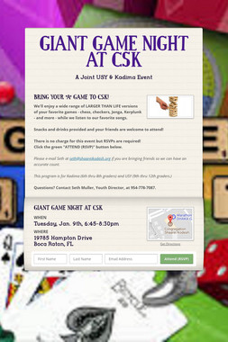 GIANT GAME NIGHT AT CSK