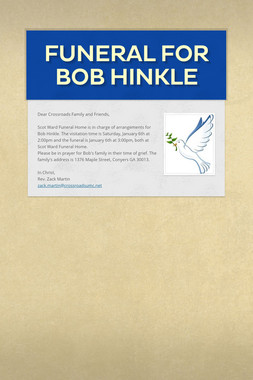 Funeral for Bob Hinkle
