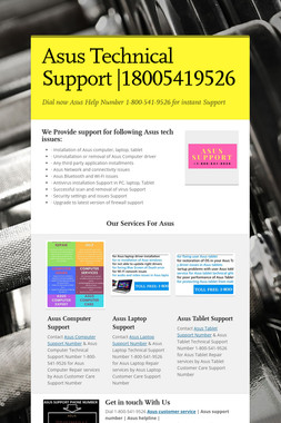 Asus Technical Support |18005419526