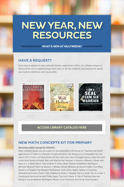 New Year, New Resources