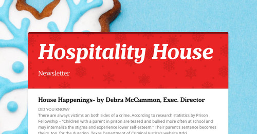 Hospitality House | Smore Newsletters for Business