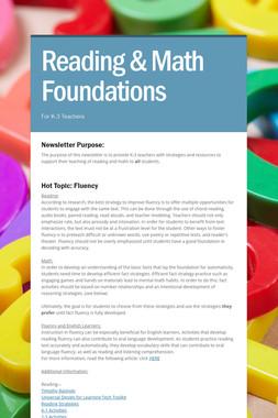 Reading & Math Foundations