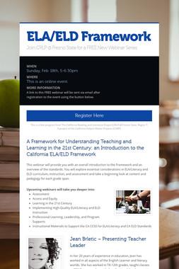 ELA/ELD Framework