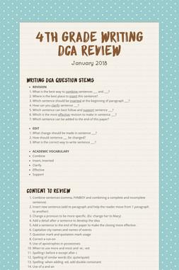 4th Grade Writing DCA Review