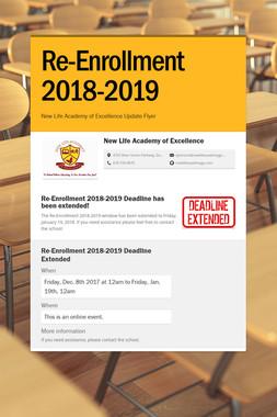 Re-Enrollment 2018-2019