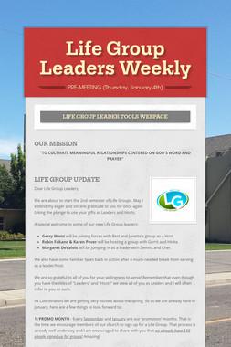 Life Group Leaders Weekly