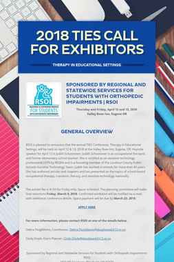 2018 TIES CALL FOR EXHIBITORS