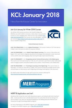 KCI: January 2018