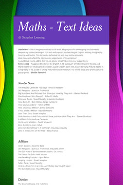 Maths - Text Ideas