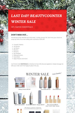 LAST DAY! BEAUTYCOUNTER WINTER SALE