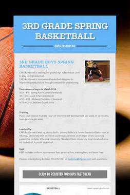 3rd Grade Spring Basketball