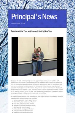 Principal's News