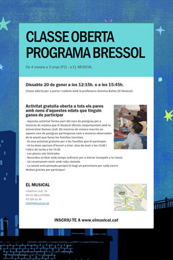 CLASSE OBERTA PROGRAMA BRESSOL