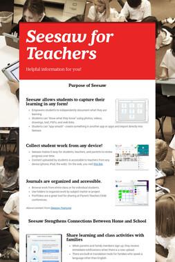 Seesaw for Teachers